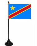 Congo Democratic Republic of Desk / Table Flag with plastic stand and base.